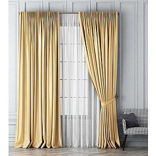 Комплект штор Шанти, золотой