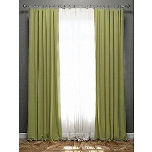 Комплект штор Блэкаут, зеленый