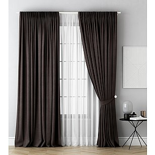 Комплект штор Каспиан, коричневый