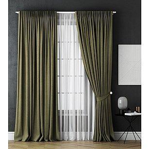 Комплект штор Каспиан, зеленый