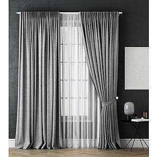 Комплект штор Каспиан, серый