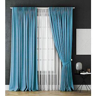 Комплект штор Каспиан, голубой