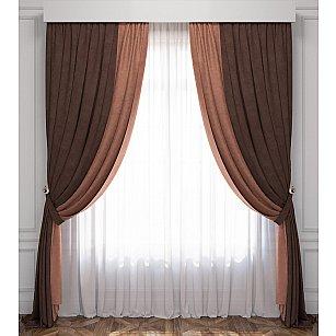 Комплект штор Латур, коричневый, венге