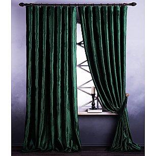 Комплект штор Оксфорд, зеленый