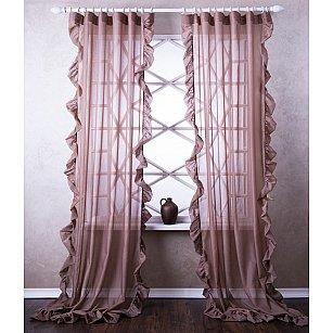 Комплект штор Бэтси, коричневый