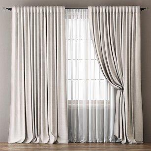 Комплект штор Омма, белый