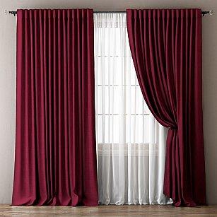 Комплект штор Омма, бордовый