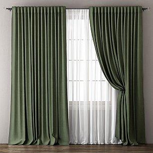 Комплект штор Омма, зеленый