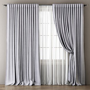 Комплект штор Омма, светло-серый