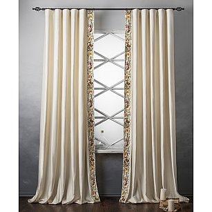 Комплект штор с вышивкой Шарлиз, сливочный, 200*280 см