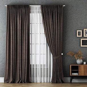 Комплект штор Маркус, коричневый