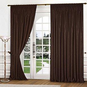 Комплект штор К301-1, темно-коричневый