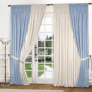 Комплект штор К309-7, голубой, молочный