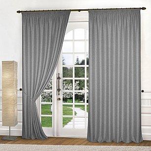 Комплект штор лен-рогожка K334-5, серый