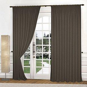 Комплект штор К335-4, шоколадный