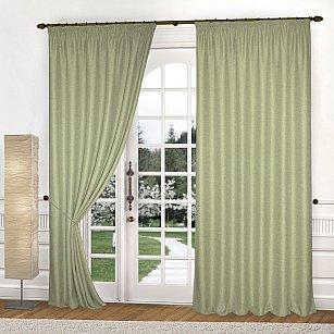 Комплект штор К335-7, оливковый