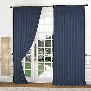 Комплект штор К335-8, синий