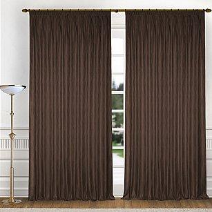 Комплект штор K336-6, коричневый