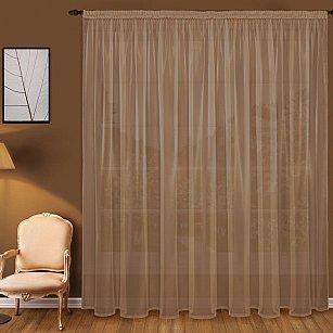 Тюль вуаль T101-10, коричневый