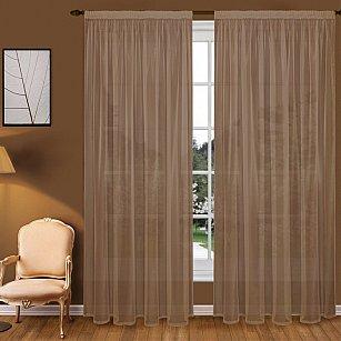 Тюль вуаль T102-10, коричневый