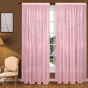 Тюль вуаль T102-9, розовый