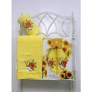 Комплект махровых полотенец Merzuka Sunflower дизайн 05 (50*80; 70*130)