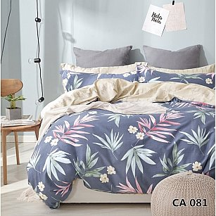 КПБ сатин печатный дизайн 081 (1.5 спальный)