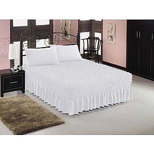 Чехол на кровать универсальный Caprise с наволочками, белый