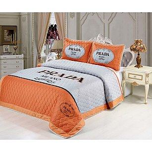 Покрывало Танго сатин-панно Брэнд, оранжевый, 220*240 см