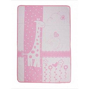 """Одеяло детское """"Чунга-Чанга"""", белый, розовый, 100*140 см"""