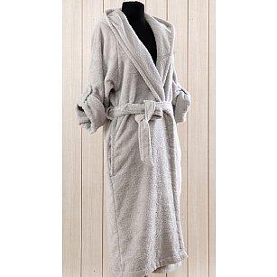 Халат махровый женский CLASSY Gri, серый