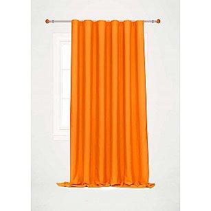 Шторы однотонная, ярко-оранжевая, дизайн 72199