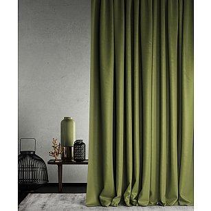 """Портьеры негорючие """"Бали"""", зеленый, 145*290 см"""