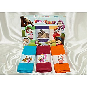 Набор вафельных полотенец Masha в коробке, 45*70 см - 3 шт