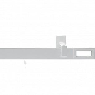 """Карниз металлический """"Хай-тек Фрейм"""", 1-рядный, 101 белый матовый, 200 см, ø 34*13 мм"""