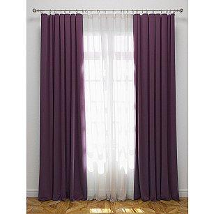 """Комплект штор с подхватами """"Блэкаут"""", фиолетовый"""