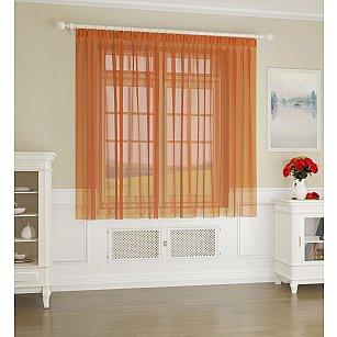 Тюль №КТ101-04, оранжевый