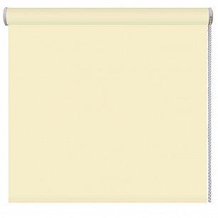Рулонная штора однотонная, лимон, ширина 37 см