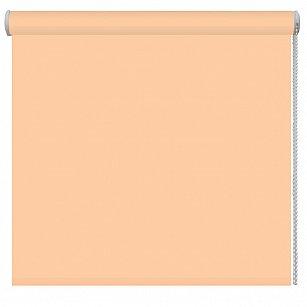 Рулонная штора ролло однотонная, персиковый