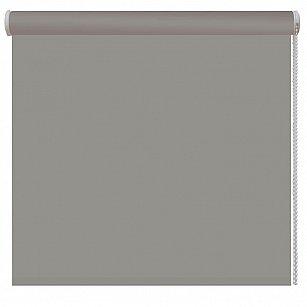 Рулонная штора ролло однотонная, серый, ширина 140 см-A