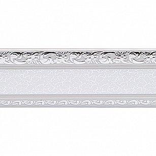 """Карниз потолочный пластиковый без поворота """"Гранд"""", 2 ряда, серебро, 140 см"""