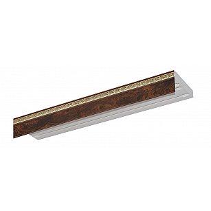 """Карниз потолочный пластиковый без поворота """"Греция"""", 3 ряда, коричневый"""