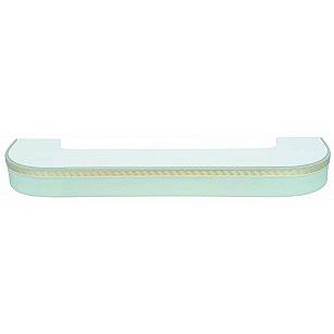 """Карниз потолочный пластиковый поворотный """"Греция"""", 3 ряда, белый"""