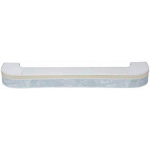 """Карниз потолочный пластиковый поворотный """"Греция"""", 2 ряда, белый мрамор"""