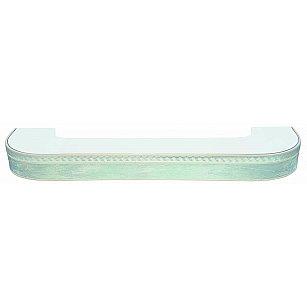 """Карниз потолочный пластиковый поворотный """"Греция"""", 3 ряда, мрамор хром"""