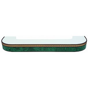 """Карниз потолочный пластиковый поворотный """"Греция"""", 2 ряда, зеленый"""