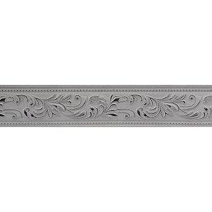"""Карниз потолочный пластиковый без поворота """"Овация 3D"""", 2 ряда, белый хром, 140 см"""