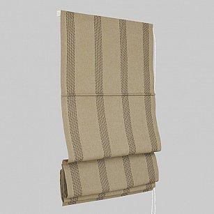 """Римская штора """"Montroy"""", коричневая полоса (20-cuero)"""