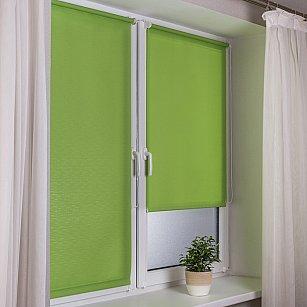 "Рулонная штора эконом ""Сантайм Лен"", светло-зеленый"