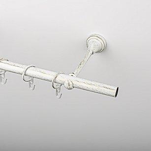 Карниз металлический стыкованный, 1-рядный, белое золото, гладкая труба, ø 19 мм